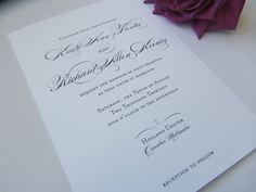 Personalized Wedding Invitation Suite - Classic Script. $2.15, via Etsy: Little Paper Lantern