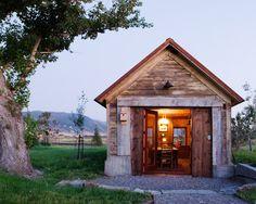 Tiny guest cabin, Bozeman, Montana