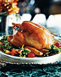 Roasted Turkey with Tangerine Glaze // Chefs Holiday Recipes Made Easy: http://www.foodandwine.com/slideshows/chef-holiday-recipes-made-easy #thanksgiving #foodandwine