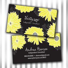 Thirty-One double sided business card electronic file by Sweet Maggie's on Etsy