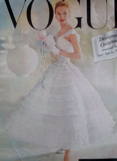Free Shipping  Rare 1957  Vogue  Designer Chantilly by DotisSpot, $250.00
