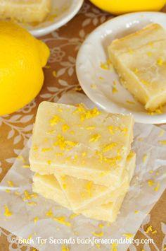 Fudgy Lemon Brownies - Oh my. these are HEAVENLY!! #lemon #dessert #brownies