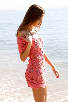 Perfect cover-up! / Eternal Sunshine Creations Crochet Cap Sleeve Dress