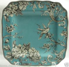 Wow, these are brand new from Home Depot!!!!!!! 10.75 in diameter.  Listed as turquoise, but to me they are more along a French blue shade..... they would be fabulous in a French country dining room and/or kitchen!!!!!!!