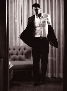 Taking off the coat.  Almost as hot as undoing the belt buckle.  David Boreanaz *.*