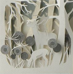 Hand cut paper sculpture