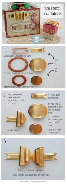 Mini Paper Bow Tutorial by Becca Feeken