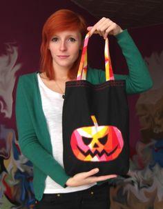 Halloween Trick or Treat Bag TUTORIAL! :)) #halloween #trick #treat #bag #sweets