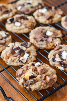Brown Butter Milky Way Oatmeal Cookies
