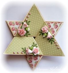 Star-Fold Card --- starts as a single triangle!
