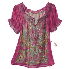 Sequined Plumed Top - New Age & Spiritual Gifts at Pyramid Collection