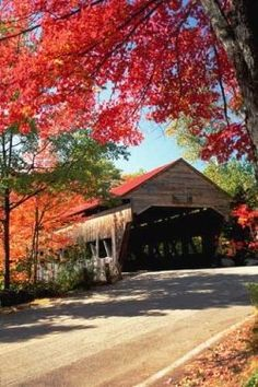 Lots of beautiful wooden covered bridges dot the New England countryside. Covered bridges protect the bridge from the harsh Northern New England...