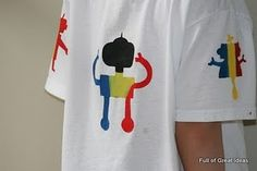 Freezer paper, any cricut image, tee shirt, and fabric paint.
