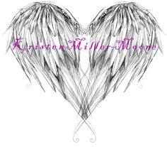 tattoo idea, angel wing tattoo designs, angel wing tattoos on the back, angel wing heart tattoo, angel wings tattoos, back tattoos, angel wings tattoo on back, heart tattoos, angel quote tattoo
