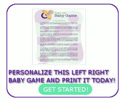 left right baby shower game baby left right games more