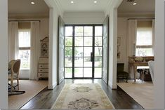 Steel front doors with wood doors inside for privacy