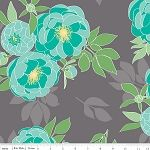 The Cottage Garden C4220 Gray Main by Riley Blake Quilted Castle.  Back of quilt?