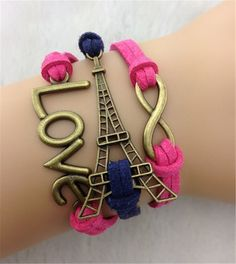 Love Infinite Fashion Eiffel/LOVE bracelet for teens!