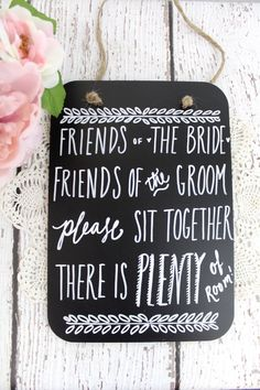 Chalkboard Wedding Seating Sign