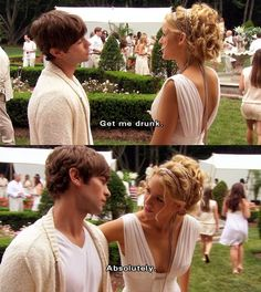 Nate and Serena. I love gossip girl(: