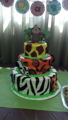 Safari cake: baby shower