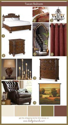 Tuscan Bedroom1_DesignBoard
