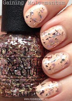 glitter nailpolish, opi gain, gain molementum, nailart naildesign