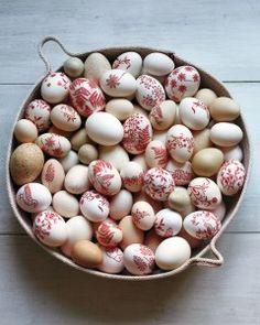 elegantly decorated eggs