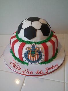 Chivas soccer cake, perfect for my dad or for my son's bday.
