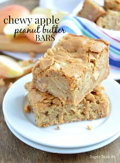 Chewy Apple Peanut Butter Bars. Why haven't I thought of this before?