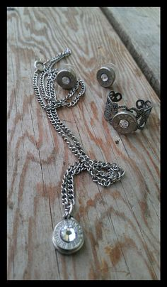 Bullet Jewelry Set by Sarahsjewelrydesigns on Etsy, $50.00