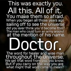 Doctor Who Good Man Goes to War Quote