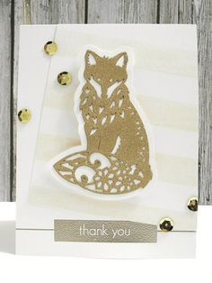 Because sparkly Gold Fox. Card by Jennifer Ingle