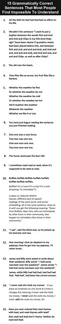 Fun bell work: diagram these sentences