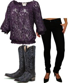 Worn by Hillary Scott in #ladyantebellum's We Owned the Night music video. Especially love these boots!
