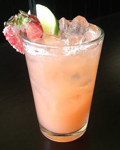 Summer Entertaining: Summer Cocktails - Recipes for 16 unique summer cocktails via InStyle | Pictured: Strawberry Ginger Margarita at Thistle Hill Tavern
