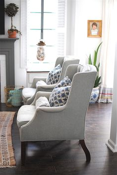 twin chairs.