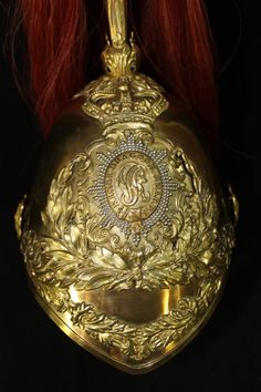 19thC Antique English British Army Cavalry 1st Kings Dragoon Guard Helmet.