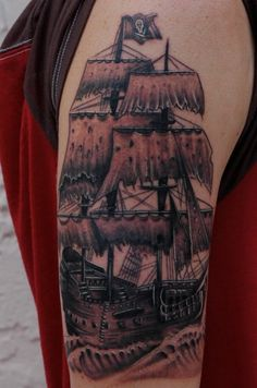 been really into pirate ship tattoo's lately!!! but more girly!