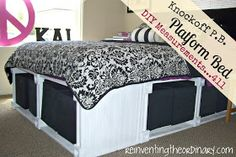 DIY Pottery Barn Bed with Storage