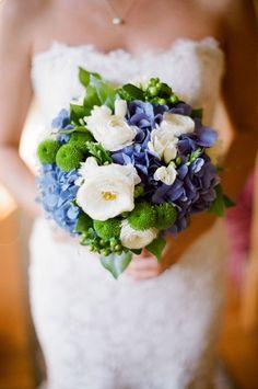 Beautiful Blue & Green Bouquet.