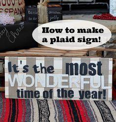 Plaid Sign DiY