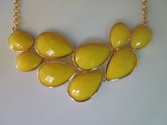 Bubble necklace Yellow necklace statement neclace by AnnyJewelry, $9.90