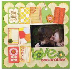 Love One Another - Scrapbook.com - #scrapbooking #layouts