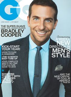 Bradley Cooper looking ever so dapper in a Ralph Lauren Black Label suit, shirt, and tie on the cover of GQ