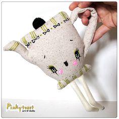 Teapot doll - pinkytoast etsy