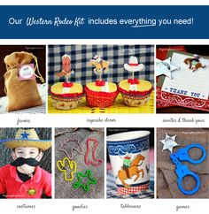 Western Rodeo Birthday Party Kit ~ #birthdayparties