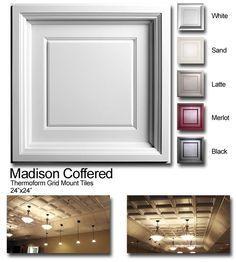 Suspended ceiling tiles for the basement redo.