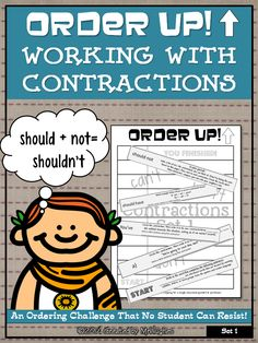 This set of ORDER UP! focuses on having students practicing working with and identifying CONTRACTIONS. This set will make the perfect assessment or review tool. ($)