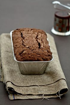 Chocolate fruit cake with dried plums and walnuts